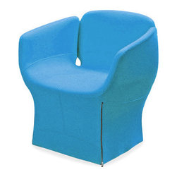 Bloomy Armchair - WIth all the beautiful form and color of a fresh tulip, this funky chair will wow everyone who spies it in your home. It comes with a zipped removable cover.