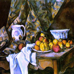 """Paul Cezanne Still Life with Flower Holder - 16"""" x 20"""" Premium Archival Print - 16"""" x 20"""" Paul Cezanne Still Life with Flower Holder premium archival print reproduced to meet museum quality standards. Our museum quality archival prints are produced using high-precision print technology for a more accurate reproduction printed on high quality, heavyweight matte presentation paper with fade-resistant, archival inks. Our progressive business model allows us to offer works of art to you at the best wholesale pricing, significantly less than art gallery prices, affordable to all. This line of artwork is produced with extra white border space (if you choose to have it framed, for your framer to work with to frame properly or utilize a larger mat and/or frame).  We present a comprehensive collection of exceptional art reproductions byPaul Cezanne."""