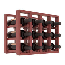 Wine Racks America® - 12 Bottle Counter Top/Pantry Wine Rack in Pine, Cherry Stain + Satin Finish - These counter top wine racks are ideal for any pantry or kitchen setting.  These wine racks are also great for maximizing odd-sized/unused storage space.  They are available in furniture grade Ponderosa Pine, or Premium Redwood along with optional 6 stains and satin finish.  With 1-10 columns available, these racks will accommodate most any space!!
