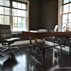Contemporary Home Office by colorTHEORY Boston