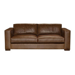 Gia - Modern Leather Sofas and Couches Collection - The Sofa Company - When you are ready for a sofa that's both super cool and super cozy, look no further than Gia. Square, boxy arms and legs give Gia the modern shape you adore.