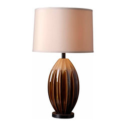 Kenroy Home - Kenroy 32042CAR Cocoon Table Lamp - Organic and artsy, Cocoon brings a refreshing informal, relaxed attitude to your decor.  Its lustrous Ceramic glaze, in earthy tones, surround its fluted and pod-like figure.