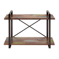 Wood for the Trees Console - Your entertainment goodies need a good home. This rustic wood and metal console table will keep all your media in a safe and sound place.