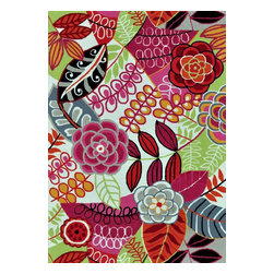Loloi Rugs - Loloi Rugs JULIJL-24IVBY5076 Juliana Ivory-Berry Transitional Hand Hooked Rug - Breathe casual elegance and flirty fun into any room of your house with the hand-hooked Juliana Collection. Handmade in China of 100-percent polyester, the intricate, high/low texture of these unique rugs is achieved with a mix of petit-point and bolder hooks. Juliana's eye-catching designs feature a selection of transitional florals and stripe patterns that wear a decidedly happy palette. With texture this bold and colors this fun, you will smile every time you walk into your home.