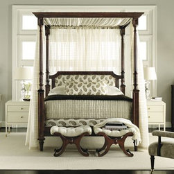 Belle Queen Canopy Rods - This canopy would look amazing with fabrics from John Robshaw's collection for Duralee.