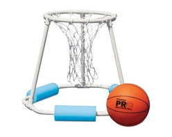 Poolmaster - Classic Water Basketball Game - The classic pro water basketball game provides three way support design for rugged use with Superior PVC construction for strength and stability! Includes game ball and inflating needle.