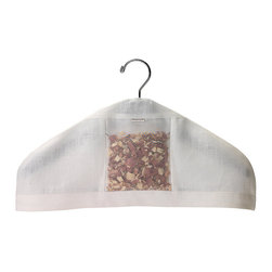 Frontgate - elizabeth W Linen Hanger Cover - Choose from 2 scents: Lavender or Cedar. Choose from 4 colors: Ivory, Natural, Pink, or Light Purple. Makes a great gift for men and women. Filled with soothing lavender or woodsy cedar, the Linen Hanger Cover adds an elegant touch to brighten your closet. Made of crisp linen and sheer silk, the cover provides natural protection for your clothes.  . .  . Made in the USA.