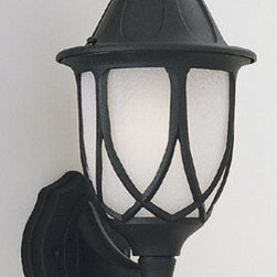 "Designers Fountain - Designers Fountain 2867-BK 1 Light 6.5"" Cast Aluminum Wall Lantern from the Cape - Features:"