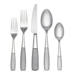 Reed & Barton - Reed and Barton Colton 45-piece Satin Flatware Set - The Colton 45-piece dinnerware set is crafted of durable 18/10 stainless steel and elegantly packaged for gift-giving. Dine in class with this gorgeous silverware set.