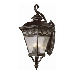 """Transglobe - Braided 3-lt Outdoor Wall Lantern - Elegant Contemporary outdoor coach light measures 28"""" high. Comes in small, medium, and large. See the collection. Also available as Energy Efficient."""