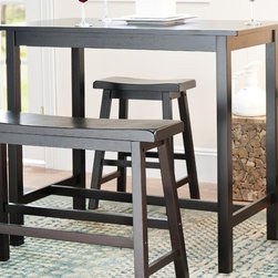 "Safavieh - Paisley Pub Table in Dark Espresso (Set of 4) - The handsome Paisley 4 pieces pub set is the perfect addition to any living space. The compact design of the Paisley 4 pieces pub set, make it perfect for small spaces. It is also great for adding extra counter space to your dining area. The Paisley 4 pieces pub set is sure to create the perfect atmosphere for entertaining. Features: -Color: Dark Espresso. -Material: Malaysian oak. -Perfect for small spaces. -Two sleek barstools and a bench. -Assembly required. -Seat height: 24""."