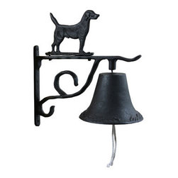 New Buffalo Corp. - Buffalo Outdoor Country Bell Set - Add a little charm to your porch, deck, shed or barn with the Buffalo Outdoor Cast Iron Country Bell. The Cast Iron Country Bell comes with interchangeable figures including a fish, mallard, deer, and black Labrador. Theses figure are easy to change, so you can customize the bell for the kids or the seasons. The cast iron bell can be mounted to a wall or post with the included bracket.