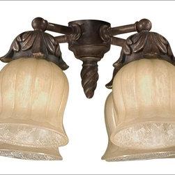 Savoy House - Savoy House-FLGC-705-AG-Ceiling Fan Light Kit - Light Kit for The Gossamer Fan