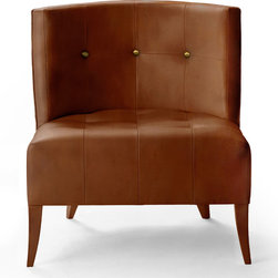 HOPI | Armchair - HOPI Modern Upholstered Armchair in brown synthetic leather and inpired in Arizona Tribe. For more information info@brabbu.com