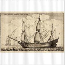 Wenceslas Hollar Nautical Art Bath Curtain by AmericanSelectGifts