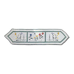 Patch Magic - Wildflower 72-inch Table Runner - Brighten your kitchen decor with a Wildflower table runnerTable linen features beautiful flowersKitchen accessory measures 16 inches wide x 72 inches long