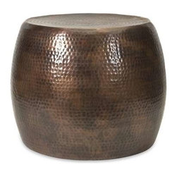 Nuria Short Accent Table - The Nuria short accent table is understated and versatile. Use it as a small table, a pedestal to boost planters or as a footstool by your favorite chair.