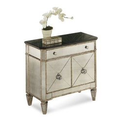 Bassett Mirror - Borghese Small Mirrored Chest - Borghese Small Mirrored Chest by Bassett Mirror
