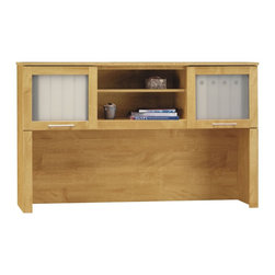 "Bush Furniture - Bush Furniture 60"" Hutch X-13418CW - Add storage and desktop space by expanding your office with the Bush Furniture Somerset 60"" Hutch. Perfect for tighter quarters, the Somerset hutch offers plenty of additional workspace. Attractive frosted glass doors keep work projects contained and out of sight while open compartments conveniently organize and store books or binders. Backed by the Bush Furniture 6 year warranty."