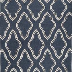 Surya - Fallon FAL-1050, 5'x8' Rug - The navy and white print gives off an almost whimsical vibe while incorporating both modern and contemporary aspects.