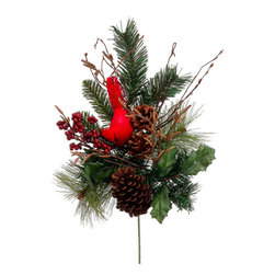 Silk Plants Direct - Silk Plants Direct Berry, Pine Cone, Cardinal and Pine (Pack of 12) - Pack of 12. Silk Plants Direct specializes in manufacturing, design and supply of the most life-like, premium quality artificial plants, trees, flowers, arrangements, topiaries and containers for home, office and commercial use. Our Berry, Pine Cone, Cardinal and Pine includes the following: