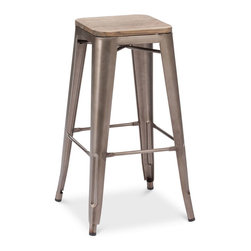 Walker Bar Stools, Set of 2 - This style of bar stool has become so popular because it fits in with so many different decors. But I think it would be especially gorgeous butted up against a limestone bar.