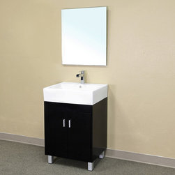 Bellaterrra - Bellaterra 203146 22.8 In Single Sink Vanity-Wood-Dark Espresso - 22.8x17.4x35.8 - Bellaterra 203146 22.8 In Single Sink Vanity-Wood-Dark Espresso - 22.8x17.4x35.8 in.