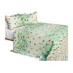 Blancho Bedding - Gakuen Alice Cotton-Contained 3-Piece Patchwork Quilt Set - Set includes a quilt and two quilted shams (one in twin set). Shell and fill are 100% cotton. For convenience, all bedding components are machine washable on cold in the gentle cycle and can be dried on low heat and will last you years. Intricate vermicelli quilting provides a rich surface texture. This vermicelli-quilted quilt set will refresh your bedroom decor instantly, create a cozy and inviting atmosphere and is sure to transform the look of your bedroom or guest room. Dimensions: Full/Queen quilt: 90 inches x 98 inches  Standard sham: 20 inches x 26 inches.