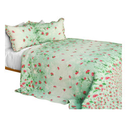 Blancho Bedding - [Gakuen Alice] 3PC Cotton Contained Patchwork Quilt Set (Full/Queen Size) - Set includes a quilt and two quilted shams (one in twin set). Shell and fill are 100% cotton. For convenience, all bedding components are machine washable on cold in the gentle cycle and can be dried on low heat and will last you years. Intricate vermicelli quilting provides a rich surface texture. This vermicelli-quilted quilt set will refresh your bedroom decor instantly, create a cozy and inviting atmosphere and is sure to transform the look of your bedroom or guest room. Dimensions: Full/Queen quilt: 90 inches x 98 inches  Standard sham: 20 inches x 26 inches.