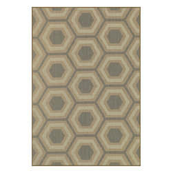 "Loloi Rugs - Loloi Rugs Capri Collection - Blue/Beige, 3'-11"" x 5'-10"" - Create your own patio paradise with the modern indoor/outdoor Capri Collection. Available in bold linear and geometric patterns, these rugs not only have the style to capture the eye but also the durability to handle Mother Nature's elements. That'sbecause Capri is made in Egypt of 100% polypropylene, specifically engineered to remain vibrant in spite of UV rays or rain. And with cool, earthy browns and slate blue color tones, Capri looks great inside too. If the kids, pets, or guests spill something and stain the rug, just hose it down and let it dry out."