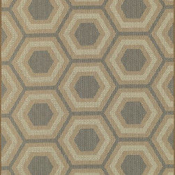 """Loloi Rugs - Loloi Rugs Capri Collection - Blue/Beige, 2'-4"""" x 3'-9"""" - Create your own patio paradise with the modern indoor/outdoor Capri Collection. Available in bold linear and geometric patterns, these rugs not only have the style to capture the eye but also the durability to handle Mother Nature's elements. That'sbecause Capri is made in Egypt of 100% polypropylene, specifically engineered to remain vibrant in spite of UV rays or rain. And with cool, earthy browns and slate blue color tones, Capri looks great inside too. If the kids, pets, or guests spill something and stain the rug, just hose it down and let it dry out."""