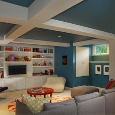 Traditional  Basement Boxed Celing