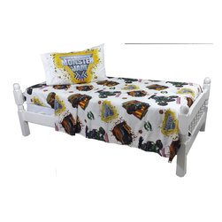 Jay Franco and Sons - Monster Jam Twin Sheet Set Monster Truck Destruction Bedding - FEATURES: