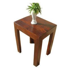 Solid Wood Night Stand Corner End Lamp Table Furniture - Beautiful but simple accent table is perfect for any and every room.
