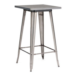 Zuo Modern - Zuo Modern Olympia Modern Era Bar Table X-981106 - This table has a solid steel frame and top in a polished galvanized steel finish.