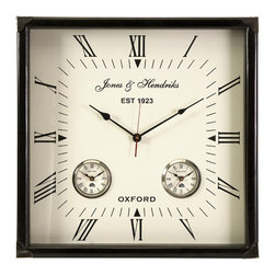 Square World Time Wall Clock - *This beautiful square wall clock will be perfect for any home or office.