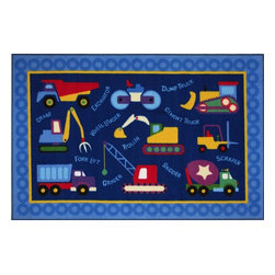 """Fun Rugs - Kids Olive Kids 1'7""""x2'5"""" Rectangle Multi Area Rug - The Olive Kids area rug Collection offers an affordable assortment of Kids stylings. Olive Kids features a blend of natural Multi color. Machine Made of 100% Nylon the Olive Kids Collection is an intriguing compliment to any decor."""