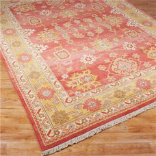 Traditional Rugs Shrimp Reproduction Oushak Rug