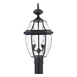 Quoizel - Quoizel NY9042K Newbury Traditional Outdoor Post Lantern - When it comes to curb appeal, outdoor lighting plays a large part in creating a special ambiance. The classic design and beveled glass of the Newbury gives the outside of your home a rich elegance, without making it look over-embellished. It's a versatile look that coordinates with most any architectural style.