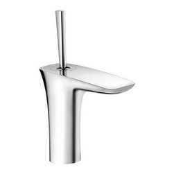 "Hansgrohe - Hansgrohe 15074001 Chrome PuraVida PuraVida Bathroom Faucet Single - Features:  All brass faucet body and handle construction Fully covered under Hansgrohe s limited lifetime warranty Hansgrohe faucets are designed and engineered in Germany Superior finishing process - finishes will resist corrosion and tarnishing through everyday use Single lever handle operation Low lead compliant- meeting federal and state regulations for lead content WaterSense Certified product- using at least 30% less water than standard 2.2 GPM faucets, while still meeting strict performance guide lines. Designed for use with standard U.S. plumbing connections All hardware needed for mounting is included with faucet Includes metal pop-up drain assembly  Specifications:  Overall Height: 8-5/8"" (measured from counter top to the highest part of the faucet) Spout Height: 4-1/2"" (measured from counter top to the spout outlet) Spout Reach: 4-1/2"" (measured from the center of the faucet base to the center of spout outlet) Mounting Type: Vessel Number of Holes Required for Installation: 1 Faucet Centers (Distance Between Handle Installation Holes): Single Hole Flow Rate: 1.5 GPM (gallons-per-minute) Maximum Deck Thickness: 1-5/8"" Metal lever handle included with faucet  Variations:   15074: This model 15171: Single hole version of this faucet with electronic sensor 15170: Single hole version of this faucet with electronic sensor and lever handle 15085: Wall mount version of this model 15081: Vessel version of this model with drain assembly 15073: Widespread version of this model 15072: Vessel version of this model less drain assembly  About Hansgrohe:  Founded in Germany's"