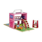 Diggin Active - Diggin Active Boxset Dollhouse Multicolor - 5516323 - Shop for Dollhouses and Dollhouse Furnishings from Hayneedle.com! Home sweet home is sweet as can be with the beautifully designed Diggin Active Boxset Dollhouse. Your little one will love how this wooden playset folds right open for instant fun. It comes complete with two bendable dolls and a full range of furniture including a bed piano piano stool kitchen table sink/range bathtub bathroom sink chaise lounge swing staircase and balcony. When you're all done fold the house up for easy storage. Recommend for ages three and up. About Diggin Active Inc.Established in 2006 Diggin Active was founded by Nathan Keker Jenny Stern and Phil Neal all veterans of the toy industry. Combining more than 30 years in the field the trio created a line of sports toys with one goal in mind - bringing the joy of sports to kids. Their products focus on taking the fear and frustration out of learning sports through top-quality design and performance so kids can develop an enduring passion for sports and an active lifestyle.
