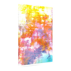"""Kess InHouse - Ebi Emporium """"Off The Grid II"""" Multicolor Painting Wrapped Art Canvas (12"""" x 10"""" - Bring your outdoor patio to life with this artistic outdoor canvas wrap featuring gorgeous artwork by KESS InHouse. These canvases are not only easy to hang and remove but also are the perfect addition to your patio collection. These canvases are stretched around a wooden frame and are built to withstand the elements and still look artistically fabulous. Decorating your patio and walls with these prints will add the splash of art and color that is needed to bring your patio collection together! With so many size options and artwork to choose from, there is no way to go wrong with these KESS Canvas Wraps!"""