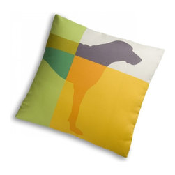 Super Fabrics Plexi Pillow - I love the graphic pattern on this  William Wegman design pillow. It has a great doggy motif and is actually made with fabric that is stain resistant and moisture resistant so it's good for your dog. I'm thinking my boys' dog bed would look so much more stylish with a throw pillow like this in the mix.