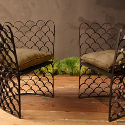 Fish Scale Chair - I fell in love with these chairs. They are the perfect show piece!