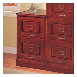 "Wildon Home � - Parkdale Two Drawer File in Cherry - Features: -Parkdale Two Drawer File. -Traditional style. -Hardwood solids and veneers in a warm cherry finish. -Constructed from hardwood solids and veneers with oak or cherry finishes. -Desks include elegant turned post legs or double pedestal bases. -Antiqued brass finish hardware. -Select pieces feature locking drawers and shelves in varying sizes for maximum storage.. -Flat, simple tops provide a smooth surface for desks. -Overall Dimensions: 30"" H x 18.75"" W x 21"" D."
