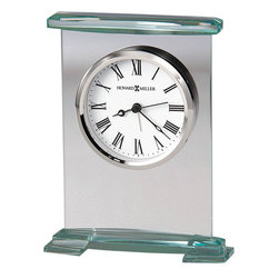 Howard Miller - Howard Miller Augustine Table Clock in Glass and Silver Finish - Howard Miller - Mantel / Table Clocks - 645691 - For over 70 years Howard Miller has understood the need to create products that are steeped in quality and value and to never expect anything less than the best. No matter the price of the purchase you have Howard Miller's assurance of quality that is reflected in both the products they create and in the people whose artistic talents they rely on to manufacture them. Incomparable workmanship. Unsurpassed quality. A quest for perfection.