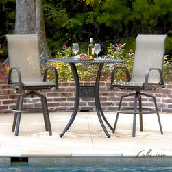 Madison Bay Sling Patio Furniture - Ideal for outdoor entertaining the Madison Bay Collection from Lakeview Outdoor Designs combines the relaxed feel of sling with the durability of cast aluminum.