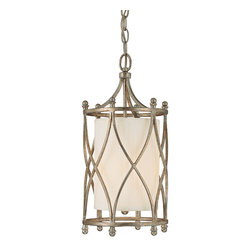 Capital Lighting - Fifth Avenue Drum Shade Foyer Fixture - Fifth Avenue 1-Light Drum Shade Foyer Fixture.  Winter Gold finish with Box-Pleated Fabric Stay-Straight shade and Frosted Glass diffuser.  Takes one 60W bulb.  UL Listed.  Rated for Dry Environments.  Chain Length: 10'  Wire Length: 15'