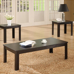 Monarch - Black 3-piece Occasional Table Set - This three-piece occasional table set is just what you need to make your family and guests feel at home in your living room. Its coffee table and two end tables give everyone room to put down drinks and reading material and get to know one another.