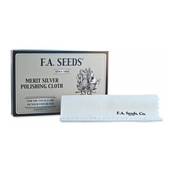 F.A. Seeds - Silver Polishing Cloth, Set of 3 - Our Silver Polishing Cloth from F.A. Seeds is dry-saturated with cleaning and polishing elements to clean and shine your silver service, cutlery, jewelry or other pieces needing light cleaning. Made in the U.S.A.